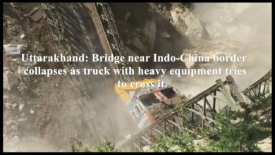 Uttarakhand: Bridge near Indo-China border collapses as truck with heavy equipment tries to cross it